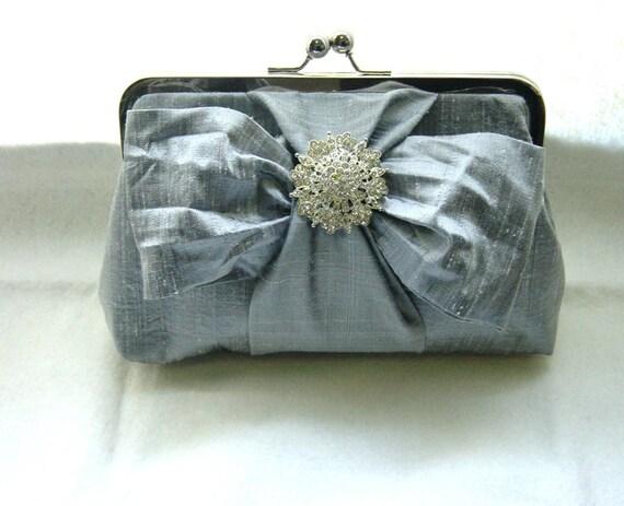Bridal Clutch - Wedding Clutch - Bridemaids Clutch - Wedding Purse - Bridesmaids Gift - Wedding Gifts - Grey Clutch - Chloe Clutch