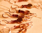 Peachy Wire Wrapped Stitch Markers for Knitting