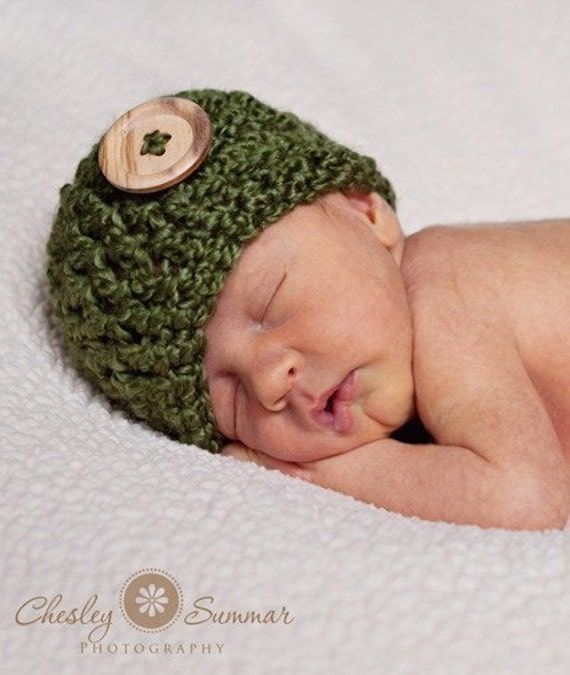PATTERN - Basic Newborn Beanie Crochet Pattern - PERMISSION TO SELL WHAT YOU MAKE