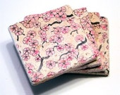 Pink Cherry Blossom Coasters - Set of 4
