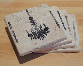 Chic Chandelier Coasters - Set of 4