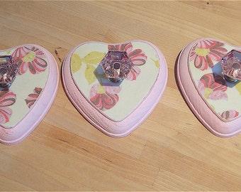 Sweet Little Heart Hooks (Set of 3)