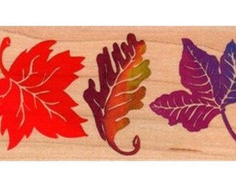 Posh Impressions Wood-Mounted Stamps - Leaf Border, Polymer Clay, Supply, Tools, Metal Clay, Jewelry