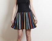 Vintage Striped Sheer Mesh Dress
