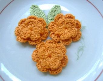 Cotton crochet applique flowers...