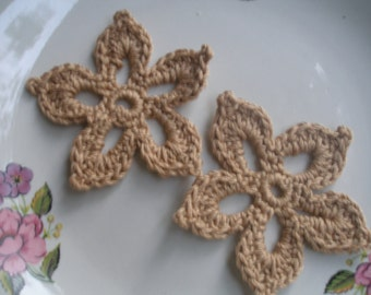 COTTON Crochet Applique  Flowers