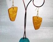 3D Gold Butterfly Earrings
