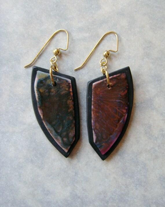 Handmade Distressed Earrings Series, Handmade Earrings, Polymer Clay Earrings, Jewelry, Gift for Her, Mom Gift
