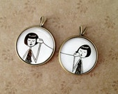 BFF Best Friend friendship pendant set - flapperdoodle