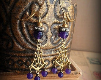 Amethyst Deco Drop Earrings