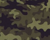 Michael Miller Flannel - Camo Army 1/2 Yard