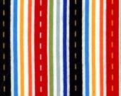 Michael Miller Flannel - 1/2 Yard Street Stripe - Red, Yellow, Blue, Green, Black, Orange