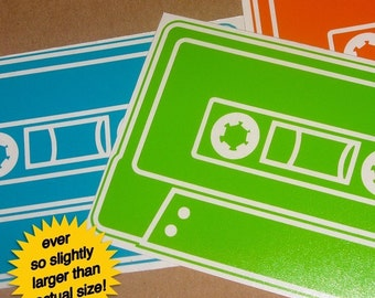 mix tape vinyl sticker 3-pack, cassette vinyl decals, FREE SHIPPING