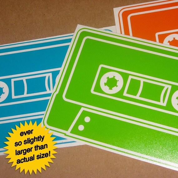 cassette tape vinyl sticker 3-pack