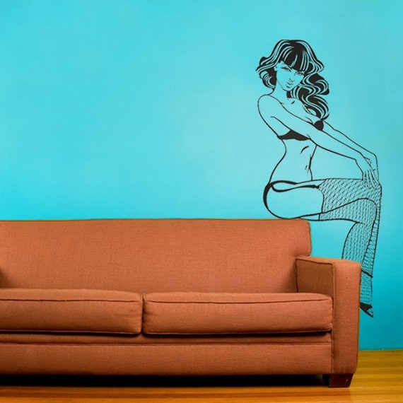 pin-up girl vinyl wall decal