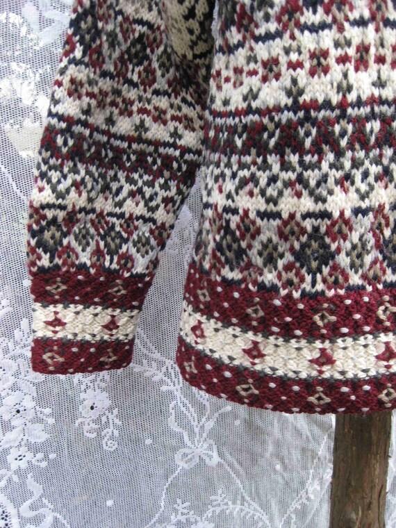 CRANBERRY EVERGREEN WOOL sweater by jg hook