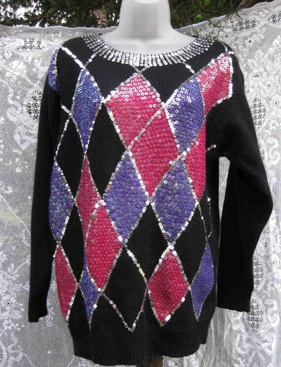 XL SILK Angora Lambswool blend sweater