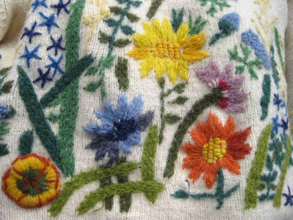 reserved.....WOOL GARDEN EMBROIDERY