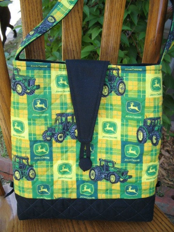Jd Handmade Creations: New Handmade Quilted John Deere Purse CLEARANCE By