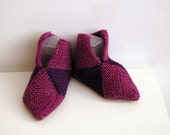Handknitted booties / slippers for toddler