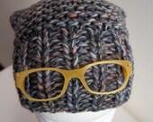 Slouchy Hat beanie maglia con occhiali