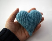Light blue heart 3d - knittingcate