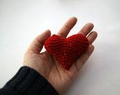 Red heart 3d amigurumi