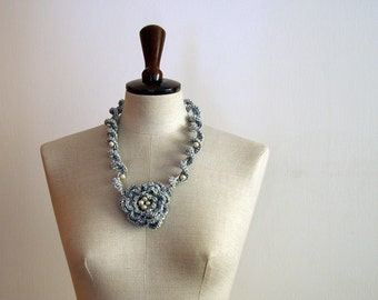 Crochet necklace OOAK