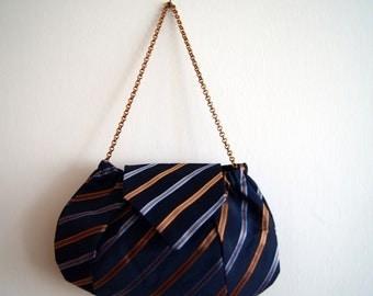 Cravatta riciclata borsa blu