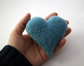 Light blue heart 3d
