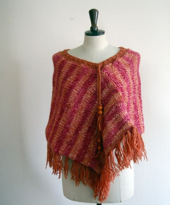 Warm little poncho style perfect for spring / autumn