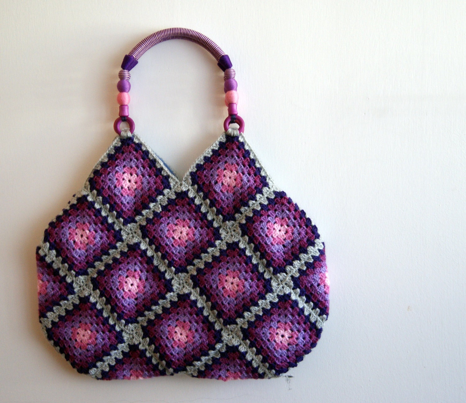 Crochet Bag Granny Square : Crochet granny square bag by knittingcate on Etsy