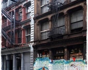 Make art - NYC Street Art New York City New Yorker big apple The city I heart NYC make art decor wall decor art Fine Art Print 8x8