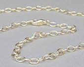 Silver Plated Cable Chain - 18 inches