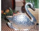 vintage Silverplate Swan ... napkin letter holder ... Romantic chic