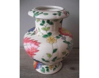 stunning Vintage Colorful VASE ... Ginger Jar