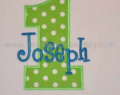 personalized birthday shirt or bodysuit for girl or boy