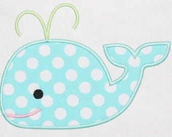 Whale applique bodysuit or shirt boy or girl