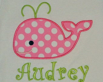 Personalized boutique whale bodysuit or tshirt