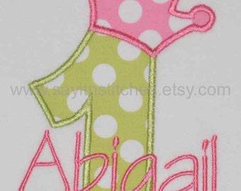Personalized Birthday shirt, bodysuit, girl, boy, 1st birthday, princess, princess, birthday party shirt, smash cake shirt