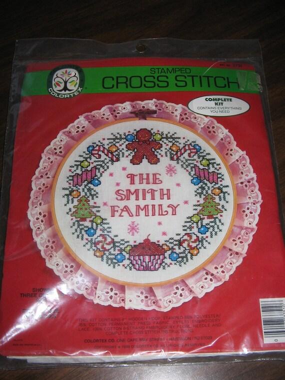 Vintage COLORTEX Stamped Cross Stitch Kit - 1986