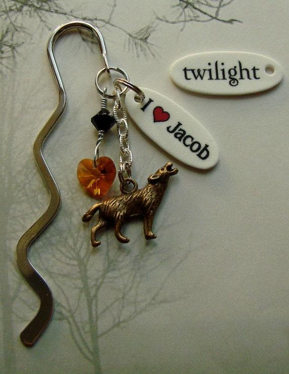 I Heart Jacob Mini wolf Bookmark