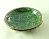 Buddha Bowl Handmade Ceramic Pottery in Green