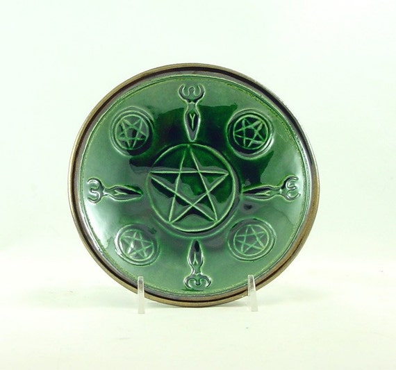 GODDESS PENTAGRAM BOWL Handmade Ceramic Pottery