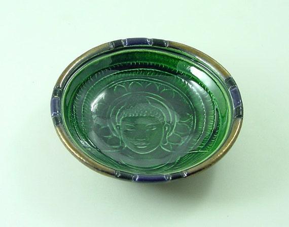 Buddha  Buddhist Offering Bowl Handmade Ceramic Pottery