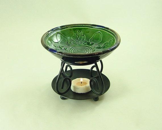 ESSENTIAL OIL  DIFFUSER Celtic Spiral Handmade Ceramic Pottery