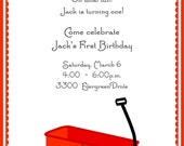 Red Wagon Invitations