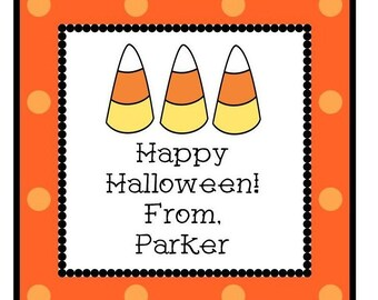 Halloween Candy Corn Sticker, Gift Tag, or Address Label - Set of 24