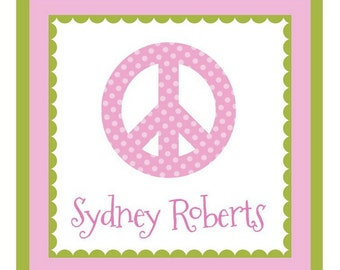 Peace Sticker, Enclosure Card, Book Plate or Address Label - Set of 24