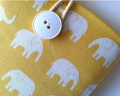 Cute Kindle Fire Case, Kindle Voyage, Fire HD Cover or Nexus 7 Padded Sleeve - Elephants